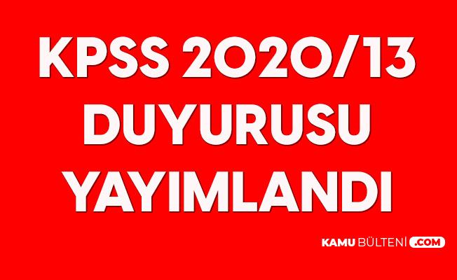 KPSS 2020/13 Yerleştirme Sonuçları Açıklandı