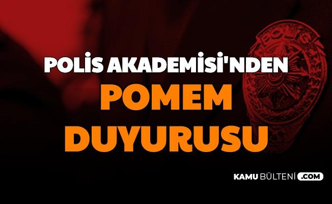 Polis Akademisi'nden POMEM Duyurusu (Yeni Polis Alımı İlanı Bekleniyor)