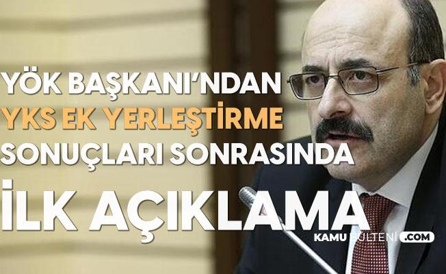 YÖK Başkanı Yekta Saraç'tan YKS Ek Yerleştirme Sonuçları Sonrasında ilk Değerlendirme