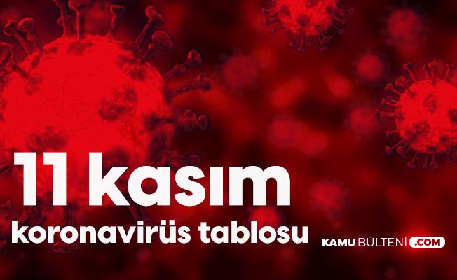 11 Kasım Koronavirüs Tablosu Yayımlandı