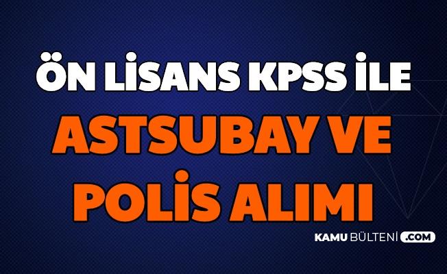 Astsubay ve Polislikte KPSS Puanı Şartı 2020 (POMEM Polis Alımı-TSK Jandarma Astsubay Alımı)
