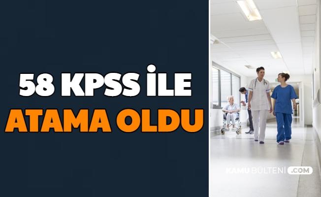 58 KPSS ile Atama Oldu (Sağlık Personeli Alımı Branşa Göre En Düşük KPSS ile Kapatan Yerler)