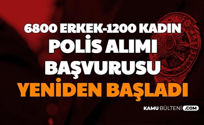 6800 Erkek 1200 Kadın Polis Alımı Başvurusu Yeniden Başladı