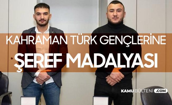 Avusturya'da Kahraman Türk Gençlere Şeref Madalyası