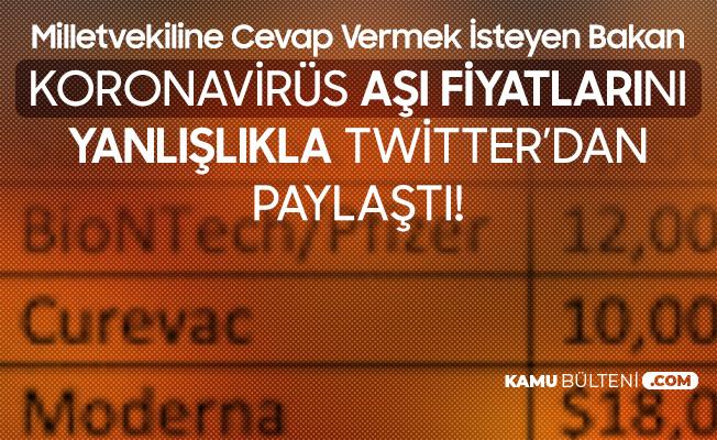 Belçikalı Bakan, Koronavirüs Aşı Fiyatlarını Yanlışlıkla Sosyal Medya Hesabından Paylaştı