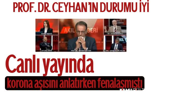 Canlı Yayında Rahatsızlanan Prof. Dr. Mehmet Ceyhan'ın Sağlık Durumu Hakkında Açıklama Geldi