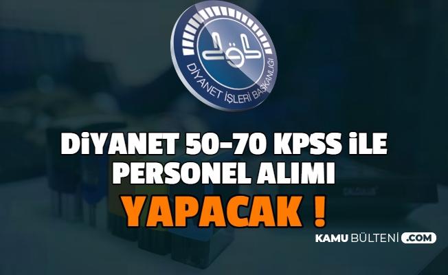 Diyanet'e 50 KPSS ile Cami Rehberi ve PDR Öğretmen Alımı Yapılacak