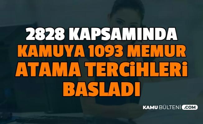 En Az İlköğretim Mezunu 1093 KPSS'siz Memur Atama Tercihleri E Devlet'te Başladı 2828 Kapsamında (2828 Nedir?)