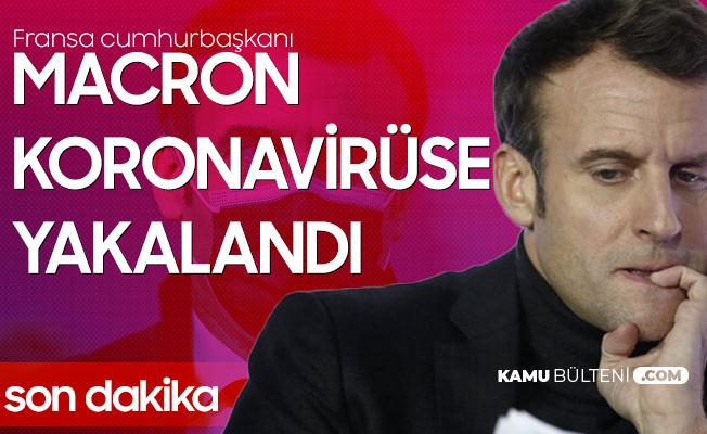 Fransa Cumhurbaşkanı Emmanuel Macron Koronavirüse Yakalandı