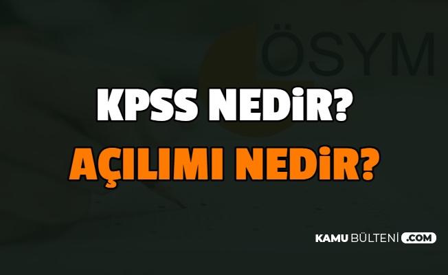 KPSS Açılımı Nedir , Kamu Personeli Ne Demek?