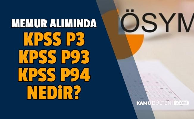 Lise KPSS P94, Ön Lisans KPSS P93 , Lisans KPSS P3 Nedir?