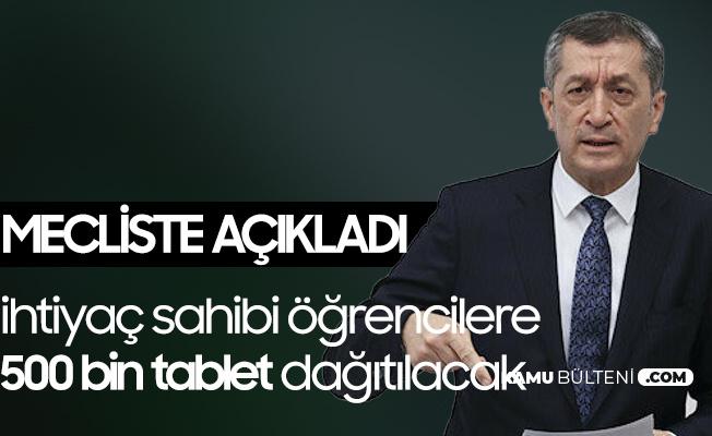 Milli Eğitim Bakanı Ziya Selçuk'tan 500 Bin Tablet Açıklaması