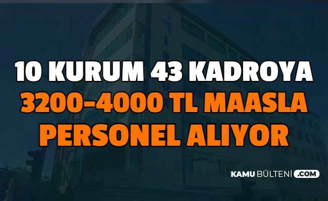 3200-4000 Lira Maaşla: 10 Kurum 43 Kadroya 966 Kamu Personeli Alımı Yapıyor