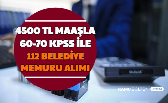 4500 TL Maaşla 112 Belediye Memuru Alımı (Van Büyükşehir Belediyesi)