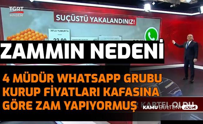 4 Marketin Müdürü WhatsApp Grubu Kurup Kafasına Göre Zam Yapıyormuş