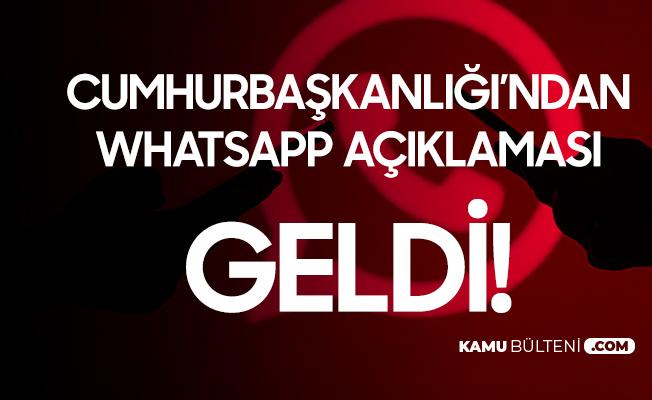 Cumhurbaşkanlığı İletişim Başkanlığı'ndan Whatsapp Uyarısı Geldi