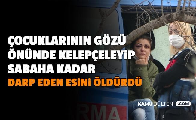 Kelepçeleyip Sabaha Kadar Döven Eşini Av Tüfeği ile Öldürdü: Arabaya Binerken...