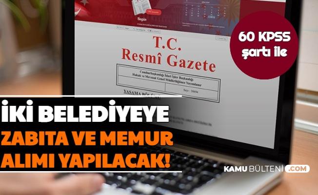 Konya ve Pazar Belediyesi Memur Alımı İlanı Resmi Gazete'de Yayımlandı
