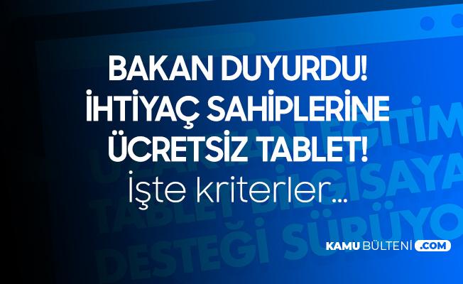 Milli Eğitim Bakanı Selçuk'tan Ücretsiz Tablet Paylaşımı