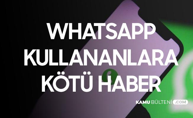 Whatsapp Kullanıcılarına Kötü Haber! 8 Şubat'ta İzin Vermeyenler Kullanamayacak