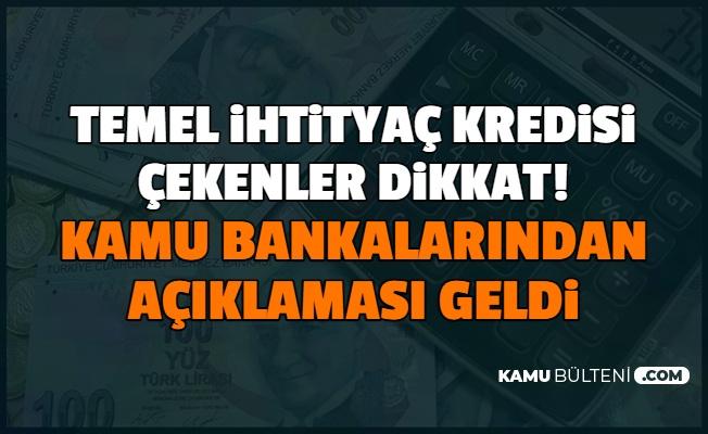 Ziraat, Vakıf ve Halkbank'tan 0.49 Faizli 6 Ay Geri Ödemesiz Temel İhtiyaç Kredisi Açıklaması