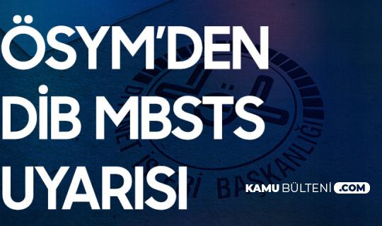 27 Şubat'ta DİB MBSTS'ye Girecek Adaylar için Duyuru Geldi