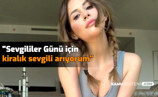 """Aynur Aydın'dan Sevgililer Günü Mesajı """"Kiralık Sevgili Arıyorum"""""""