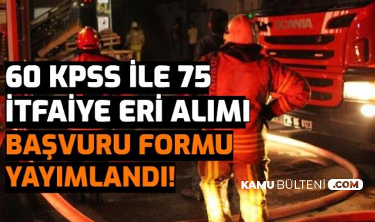 Diyarbakır Büyükşehir 75 İtfaiye Eri Alımı Başvuru Formu Yayımlandı