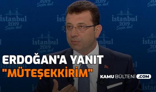 İmamoğlu'ndan Cumhurbaşkanı Erdoğan'a Tablet Cevabı