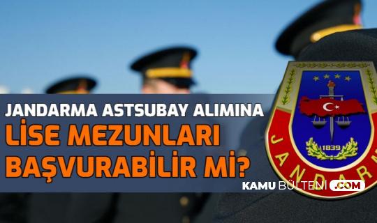 Jandarma Astsubay Alımına Lise Mezunları Başvurabilir mi?