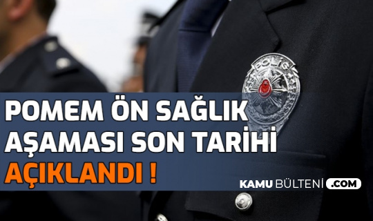 Polis akademisi POMEM Ön Sağlık Aşamasının Biteceği Tarihi Açıkladı: Sırada Parkur Var