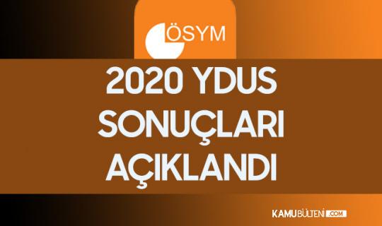 2020 YDUS Sonuçları Açıklandı
