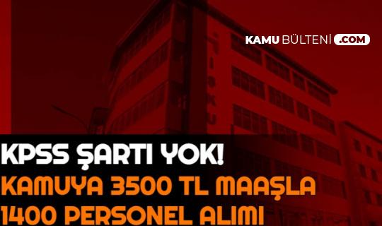41 Şehirde Kamuya KPSS'siz 1400 Personel Alımı