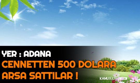 Adana'da Cennetten 4 Bin Liraya Arsa Sattılar