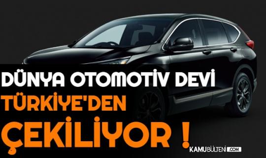 Dünya Otomotiv Devi Honda, Türkiye'den Çekiliyor