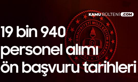 MEB 19940 Sözleşmeli Personel Ataması Ön Başvuruları 15 Mart'ta Başlayacak