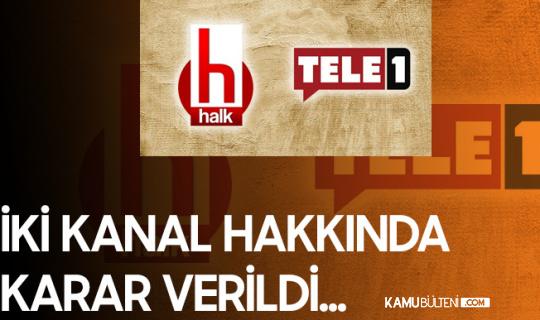 RTÜK'ten Halk Tv ve Tele1'e Ceza Geldi