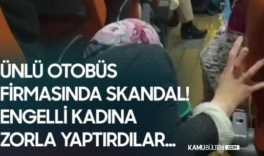 Şehirlerası Otobüste Skandal! Çocuğu İstifra eden Engelli Kadına Temizlik Yaptırdılar...