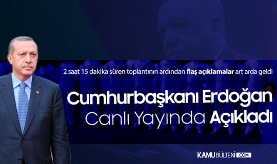 """Cumhurbaşkanı Erdoğan, Canlı Yayında Duyurdu """"Çarşamba Günü Tek Tek Açıklayacağım"""""""