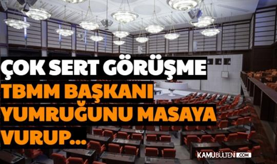 Güvenlik Soruşturması Teklifinde Sert Gelişme: TBMM Başkanı Şentop Masaya Yumruğunu Vurdu ve...