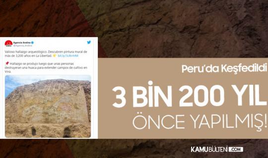 Peru'da Keşfedildi! Tam 3 Bin 200 Yıl Önce Yapılmış...