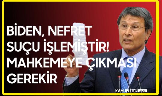 Prof. Dr. Yusuf Halaçoğlu: ABD Başkanı Nefret Suçu İşlemiştir, Mahkemeye Çıkarılmalıdır