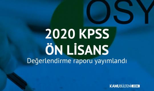2020 KPSS Ön Lisans Değerlendirme Raporu Yayımlandı