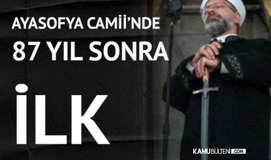Ayasofya Camii'nde 87 yıl Sonra İlk Bayram Namazı