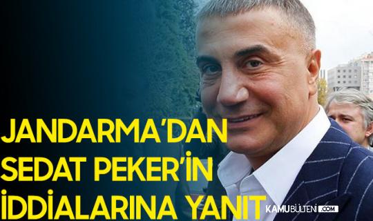 Jandarma'dan Sedat Peker'in İddialarına Yanıt Geldi