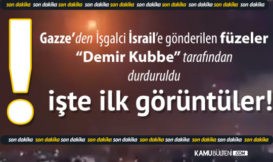 """Son Dakika... Gazze'den İşgalci İsrail'e Gönderilen Roketler """"Demir Kubbe"""" Tarafından Durduruldu"""