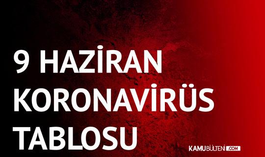9 Haziran Koronavirüs Tablosu Yayımlandı