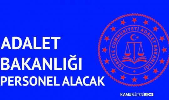 Adalet Bakanlığı'na Sözleşmeli Bilişim Personeli Alımı Yapılacak