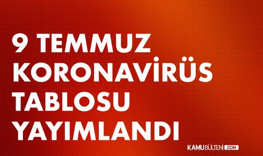 9 Temmuz Koronavirüs Tablosu