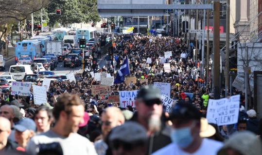 Avustralya'da karantina önlemleri protestoların fitilini ateşledi